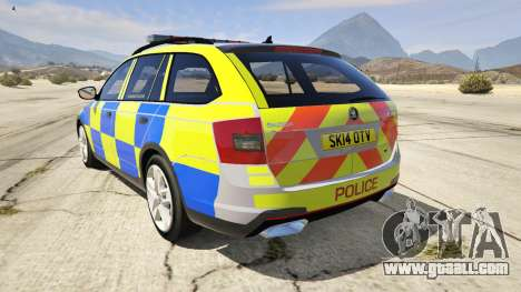 GTA 5 2014 Police Skoda Octavia VRS Estate rear left side view