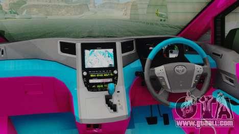 Toyota Vellfire Miku Pocky Exhaust for GTA San Andreas back view