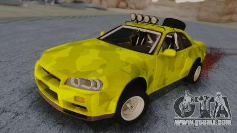 Nissan Skyline R34 Rusty Rebel for GTA San Andreas