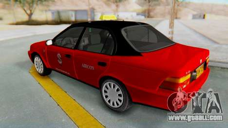 Toyota Corolla Dollar Taxi for GTA San Andreas right view