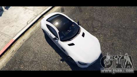 GTA 5 Mercedes-Benz AMG GT 2016 back view