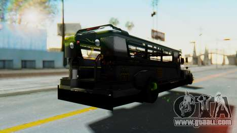 LGS Motors Eggtype Jeepney for GTA San Andreas back left view
