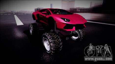 Lamborghini Aventador Monster Truck for GTA San Andreas right view