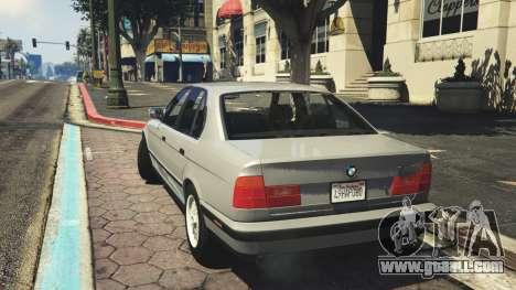 GTA 5 BMW 535i E34 v1.1 rear left side view
