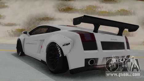 Lamborghini Gallardo 2005 LW LB Performance for GTA San Andreas left view
