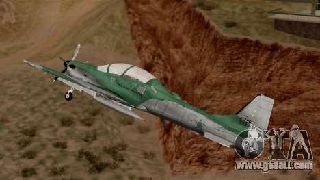 A-29B Embraer Super Tucano for GTA San Andreas back left view