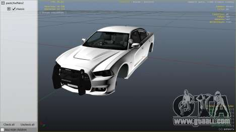 GTA 5 2012 Unmarked Dodge Charger right side view