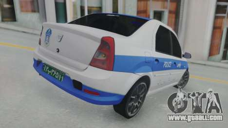 Dacia Logan Iranian Police for GTA San Andreas back left view