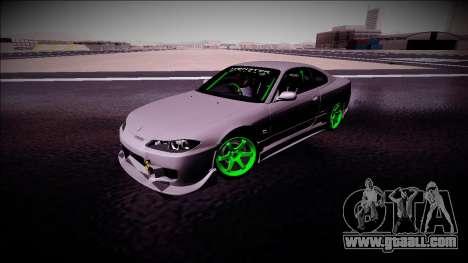 Nissan Silvia S15 Drift Monster Energy for GTA San Andreas inner view