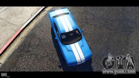 GTA 5 Dodge Challenger 2015 left side view