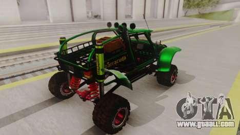 Mudmonster for GTA San Andreas back left view