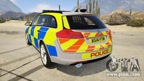 GTA 5 Police Vauxhall Insignia Estate rear left side view
