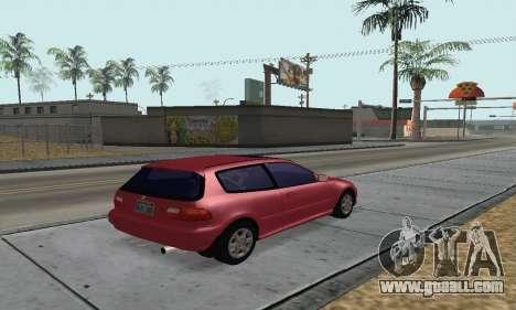 Honda Civic EG6 Tunable for GTA San Andreas left view