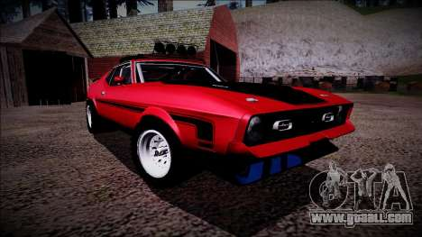 1971 Ford Mustang Rusty Rebel for GTA San Andreas side view