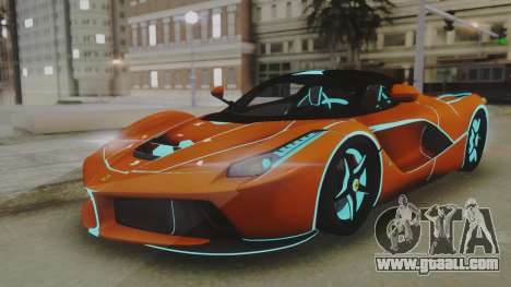 Ferrari LaFerrari TRON Edition v1.0 for GTA San Andreas