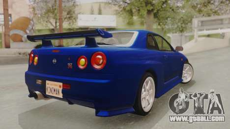 Nissan Skyline GT-R 2005 Z-Tune Nismo Prototype for GTA San Andreas left view