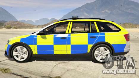 GTA 5 2014 Police Skoda Octavia VRS Estate left side view