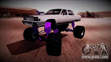 GTA 4 Emperor Monster Truck for GTA San Andreas back left view