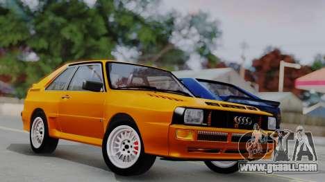 Audi Quattro Coupe 1983 for GTA San Andreas interior