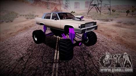 GTA 4 Emperor Monster Truck for GTA San Andreas inner view