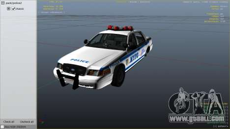 GTA 5 NYPD Ford CVPI HD right side view
