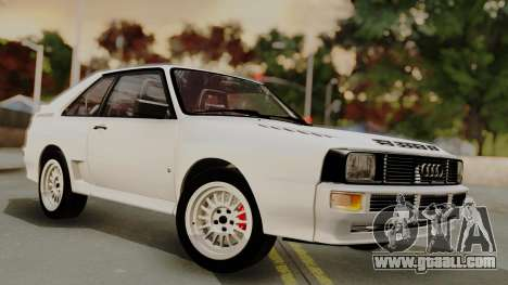 Audi Quattro Coupe 1983 for GTA San Andreas upper view