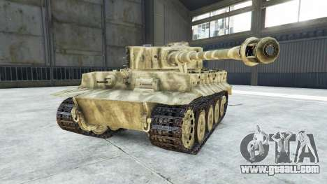 GTA 5 Panzerkampfwagen VI Ausf. E Tiger right side view