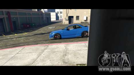 GTA 5 Nissan Skyline R34 Tommy Kaira rear left side view