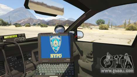 GTA 5 NYPD Ford CVPI HD rear right side view