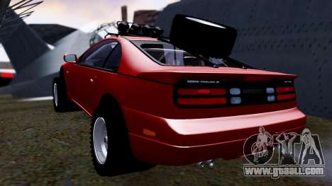 Nissan 300ZX Rusty Rebel for GTA San Andreas back left view