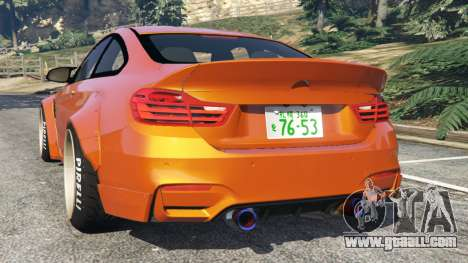 GTA 5 BMW M4 (F82) [LibertyWalk] v1.1 rear left side view