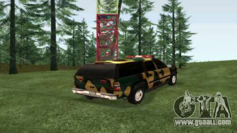 Chevrolet Suburban Camouflage for GTA San Andreas left view