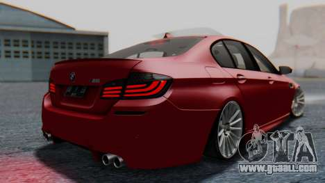 BMW M5 2012 Stance Edition for GTA San Andreas left view
