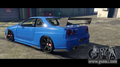 GTA 5 Nissan Skyline R34 Tommy Kaira left side view