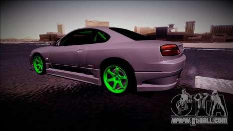 Nissan Silvia S15 Drift Monster Energy for GTA San Andreas back left view