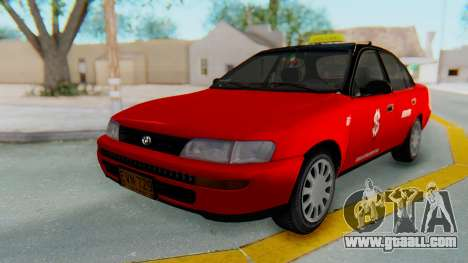Toyota Corolla Dollar Taxi for GTA San Andreas