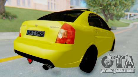 Hyundai Accent Era for GTA San Andreas back left view