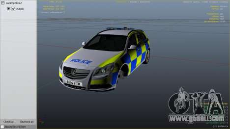 GTA 5 Police Vauxhall Insignia Estate right side view