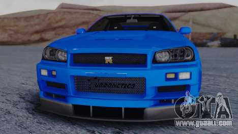 Nissan Skyline R34 Full Tuning for GTA San Andreas right view