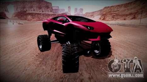 Lamborghini Aventador Monster Truck for GTA San Andreas back view
