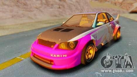GTA 5 Karin Sultan RS Carbon IVF for GTA San Andreas upper view