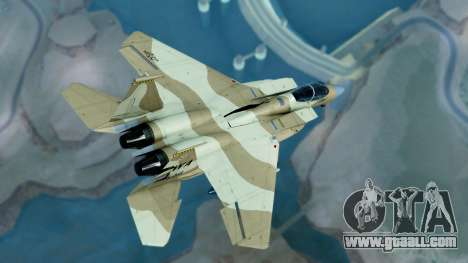 McDonnell Douglas F-15E Aggressor Desert for GTA San Andreas left view