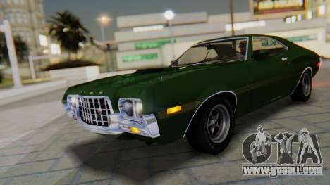 Ford Gran Torino Sport SportsRoof (63R) 1972 IVF for GTA San Andreas bottom view