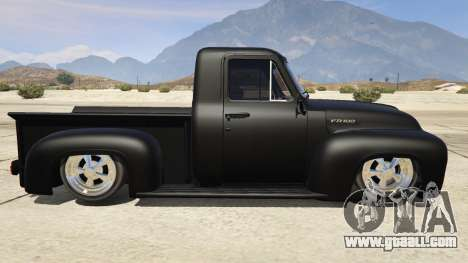 GTA 5 Ford FR100 1953 left side view