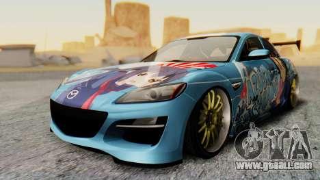 Mazda RX-8 Itasha for GTA San Andreas right view