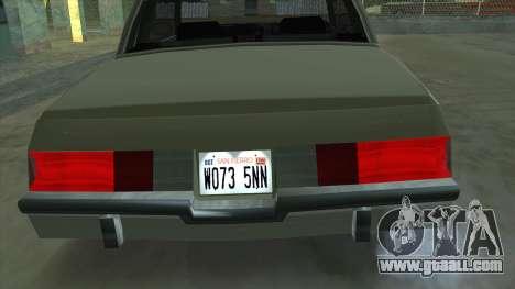 Willard Majestic for GTA San Andreas right view