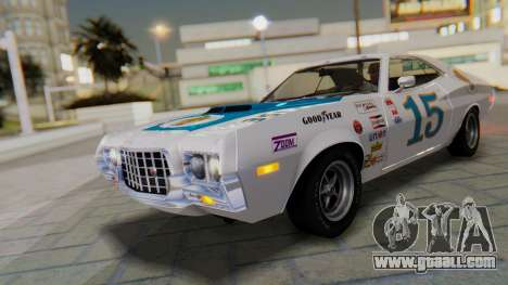 Ford Gran Torino Sport SportsRoof (63R) 1972 PJ1 for GTA San Andreas upper view