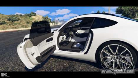 GTA 5 Mercedes-Benz AMG GT 2016 rear left side view