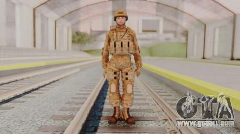 US Army Multicam Soldier from Alpha Protocol for GTA San Andreas second screenshot