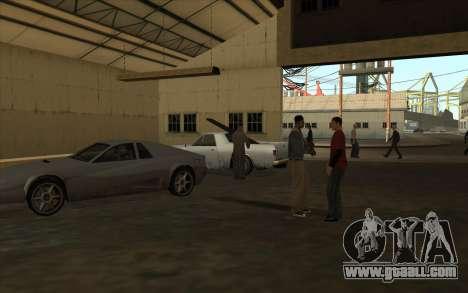 The garage at the docks for GTA San Andreas